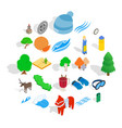 unity icons set isometric style vector image vector image