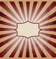 vintage sunburst background vector image vector image