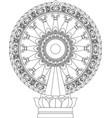 wheel dhamma wheel life vector image
