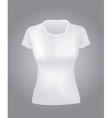 white women shirt vector image
