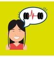 woman sport health icon vector image vector image
