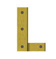 wood letter L vector image vector image