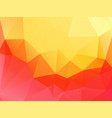 yellow pink abstract triangular background vector image vector image