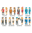 Flat design people with professions set vector image
