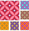vintage wallpaper patterns vector image