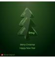 Abstract glass Christmas tree vector image