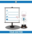 Doctor and information board vector image