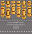 taxi cars website concept vector image