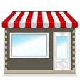 Cute shop icon with red awnings vector image