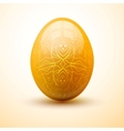 Egg with pattern Easter and spring concept vector image