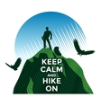 Hiking vector image
