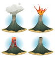 volcano mountains set vector image