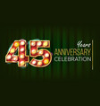 45 years anniversary banner forty-five vector image vector image