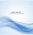 abstract blue wave background design vector image