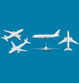 airplanes on blue background industrial blueprint vector image vector image