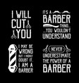 barber shop quote and saying good for print vector image vector image
