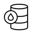 barrel oil icon with outline style vector image vector image