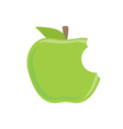 Bitten green apple vector image vector image