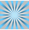 Blue rays gray poster star burst vector image vector image