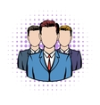 Businessmen comics icon vector image vector image