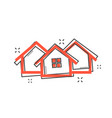 cartoon house icon in comic style home pictogram vector image vector image