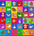 cartoon pattern design with farm animals vector image