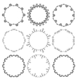 Collection of hand drawn ornamental circle frames vector image