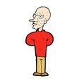 comic cartoon evil bald man vector image vector image