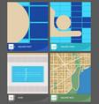 comparison among customary area units vector image