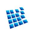 digital blocks perspective 3d box symbol design vector image