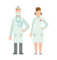 doctors silhouette isolated on white vector image