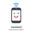 emotion phone wi-fi signal good starting vector image