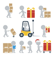 Flat people shipping vector image vector image