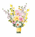 flower spring easter bouquet vector image vector image