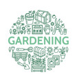 gardening planting horticulture banner with vector image vector image