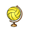 globe international volleyball ball sports vector image vector image