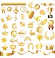 gold set vector image
