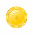 golden gambling chip with diamond suit realistic vector image vector image