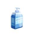 hand sanitizer icon sanitizer bottle vector image