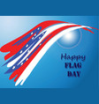 happy flag day 4 vector image