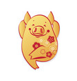 hppy chinese new year-year of the pig vector image vector image