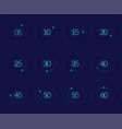 interface countdown set vector image vector image