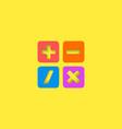 Mathematical symbols ui calculator logo mockup