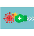 medicine against virus vector image
