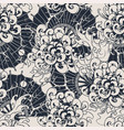 monochrome seamless pattern with chrysanthemums vector image vector image