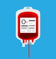o blood bag vector image