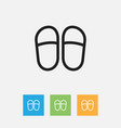 of kin symbol on slippers vector image