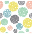Pastel Colorful Circles Dots Seamless vector image