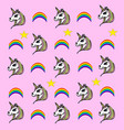pink pattern withh unicorn vector image