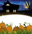 Pumpkins and house vector image vector image